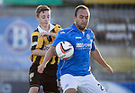 East Fife v St Johnstone...09.07.14  Pre-Season Friendly<br /> Lee Croft holds off David Maskrey son of saints legend Steve Maskrey<br /> Picture by Graeme Hart.<br /> Copyright Perthshire Picture Agency<br /> Tel: 01738 623350  Mobile: 07990 594431