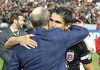 Jaime with Kevin Payne during festivities surrounding the final appearance of Jaime Moreno in a D.C. United uniform, at RFK Stadium, in Washington D.C. on October 23, 2010. Toronto won 3-2.