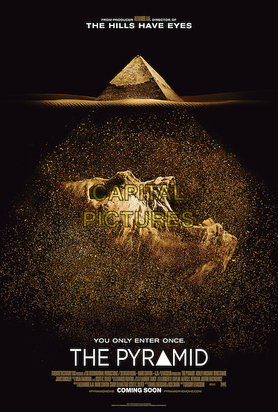 POSTER ART<br /> in The Pyramid (2014) <br /> *Filmstill - Editorial Use Only*<br /> CAP/NFS<br /> Image supplied by Capital Pictures