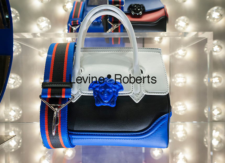 A Versace handbag on display in their store on Fifth Avenue in New York on Tuesday, December 13, 2016. (© Richard B. Levine)