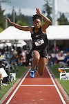 EUGENE, OR - JUNE 10: Keturah Orji of the University of Georgia competes in the triple jump during the Division I Women's Outdoor Track & Field Championship held at Hayward Field on June 10, 2017 in Eugene, Oregon. Orji won the event with a 14.29 meter jump. (Photo by Jamie Schwaberow/NCAA Photos via Getty Images)