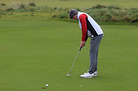 Conor Murtagh (Balcarrick) on the 12th green during Round 2 of the Ulster Boys Championship at Portrush Golf Club, Portrush, Co. Antrim on the Valley course on Wednesday 31st Oct 2018.<br /> Picture:  Thos Caffrey / www.golffile.ie<br /> <br /> All photo usage must carry mandatory copyright credit (&copy; Golffile | Thos Caffrey)