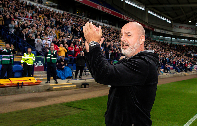 Bolton Wanderers' manager Keith Hill meets the supporters<br /> <br /> Photographer Andrew Kearns/CameraSport<br /> <br /> EFL Leasing.com Trophy - Northern Section - Group F - Bolton Wanderers v Bradford City -  Tuesday 3rd September 2019 - University of Bolton Stadium - Bolton<br />  <br /> World Copyright © 2018 CameraSport. All rights reserved. 43 Linden Ave. Countesthorpe. Leicester. England. LE8 5PG - Tel: +44 (0) 116 277 4147 - admin@camerasport.com - www.camerasport.com