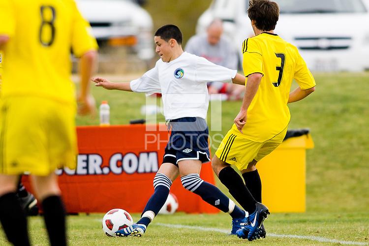 2010 US Soccer Development Academy Winter Showcase U15/16 Cosmos Academy East vs Crew Soccer Academy at Reach 11 Soccer Complex in Phoenix, Arizona in December of  2010.