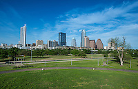 Austin skyline from the park