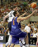 Spain's Felipe Reyes (r) and USA's Kevin Love during friendly match.July 24,2012. (ALTERPHOTOS/Acero) /NortePhoto.com<br /> **CREDITO*OBLIGATORIO** *No*Venta*A*Terceros*<br /> *No*Sale*So*third* ***No*Se*Permite*Hacer Archivo***No*Sale*So*third*©Imagenes*con derechos*de*autor©todos*reservados*.