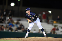***Temporary Unedited Reference File***San Antonio Missions relief pitcher Kyle Bartsch (5) during a game against the Midland RockHounds on April 21, 2016 at Nelson W. Wolff Municipal Stadium in San Antonio, Texas.  Midland defeated San Antonio 9-2.  (Mike Janes/Four Seam Images)