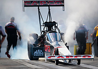 Oct 12, 2019; Concord, NC, USA; NHRA top fuel driver Billy Torrence during qualifying for the Carolina Nationals at zMax Dragway. Mandatory Credit: Mark J. Rebilas-USA TODAY Sports