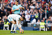 9th December 2017, Santiago Bernabeu, Madrid, Spain; La Liga football, Real Madrid versus Sevilla; Cristiano Ronaldo  of Real Madrid celebrates the (3,0) places the ball on the penalty spot