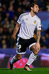 Paco Alcacer of Valencia CF reacts after missing a chance - UEFA Champions League Group H - Valencia CF vs Olympique Lyonnais - Mestalla Stadium - Valencia- Spain - 09th December 2015 - Pic David Aliaga/Sportimage