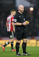 Referee Simon Hooper<br /> <br /> Photographer Jonathan Hobley/CameraSport<br /> <br /> The EFL Sky Bet Championship - Brentford v Preston North End - Saturday 10th February 2018 - Griffin Park - Brentford<br /> <br /> World Copyright &copy; 2018 CameraSport. All rights reserved. 43 Linden Ave. Countesthorpe. Leicester. England. LE8 5PG - Tel: +44 (0) 116 277 4147 - admin@camerasport.com - www.camerasport.com