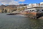 Waterside restaurant, Isleta de Moro village, Cabo de Gata natural park, Nijar, Almeria, Spain