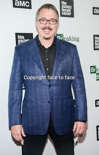 Vince Gilligan attend The Film Society Of Lincoln Center And AMC Celebration Of 'Breaking Bad' Final Episodes at The Film Society of Lincoln Center, Walter Reade Theatre in New York, 31.07.2013.<br /> Credit: MediaPunch/face to face<br /> - Germany, Austria, Switzerland, Eastern Europe, Australia, UK, USA, Taiwan, Singapore, China, Malaysia, Thailand, Sweden, Estonia, Latvia and Lithuania rights only -