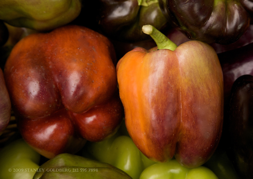 Bell Peppers are found in many colors that we only see in farmer's markets