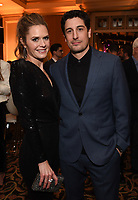 2020 FOX WINTER TCA: L-R: OUTMATCHED cast members Maggie Lawson and Jason Biggs celebrate at the FOX WINTER TCA ALL-STAR PARTY during the 2020 FOX WINTER TCA at the Langham Hotel, Tuesday, Jan. 7 in Pasadena, CA. © 2020 Fox Media LLC. CR: Frank Micelotta/FOX/PictureGroup