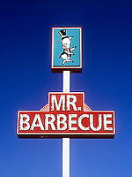 Mr. Barbecue restaurant sign in Winston Salem, NC