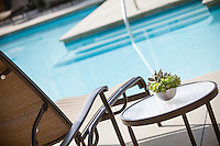 Apartment Living Pool Stock Photo