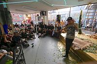 Kassel, Germany. Opening days of documenta14.<br /> European Everything by Joar Nango with Wimme Saari, Anders Rimpi, Uyaraqk und Tarrak