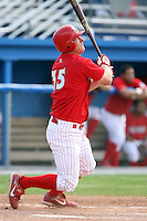 August 3rd 2008:  Blake Murphy of the Batavia Muckdogs, Class-A affiliate of the St. Louis Cardinals, during a game at Dwyer Stadium in Batavia, NY.  Photo by:  Mike Janes/Four Seam Images