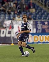 New England Revolution forward Ilija Stolica (9) at midfield. In a Major League Soccer (MLS) match, Real Salt Lake defeated the New England Revolution, 2-0, at Gillette Stadium on April 9, 2011.