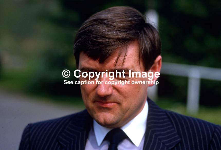 Tom Larmour, chairman, F.U.S.E. (NI) Ltd, 19870503TL..Copyright Image from Victor Patterson, 54 Dorchester Park, Belfast, UK, BT9 6RJ..Tel: +44 28 9066 1296.Mob: +44 7802 353836.Voicemail +44 20 8816 7153.Skype: victorpattersonbelfast.Email: victorpatterson@me.com.Email: victorpatterson@ireland.com (back-up)..IMPORTANT: If you wish to use this image or any other of my images please go to www.victorpatterson.com and click on the Terms & Conditions. Then contact me by email or phone with the reference number(s) of the image(s) concerned.
