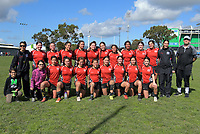 The victorious Manukura team after the Hurricanes Girls' 1st XV rugby final between Manukura College and St Mary's College at CET Stadium in Palmerston North, New Zealand on Saturday, 31 August 2019. Photo: Dave Lintott / lintottphoto.co.nz