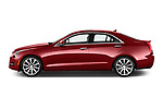 Car Driver side profile view of a 2015 Cadillac ATS 2.5L Standard RWD 4 Door Sedan Side View