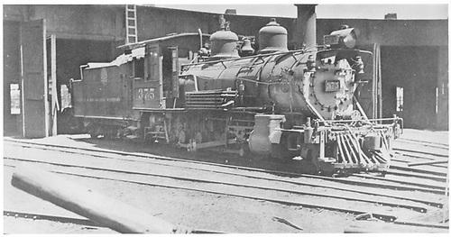 C-25 #375 on roundhouse lead.<br /> D&amp;RGW