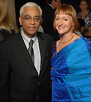 Consul General of India Sanjiv Arora and Valerie Greiner at the Arts of India Gallery launch party at the Museum of Fine Arts Houston Thursday May 14,2009.(Dave Rossman/For the Chronicle)