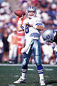 Dallas Cowbows, Troy Aikman (8) in action against the Los Angeles Raiders on October 25, 1992 in Los Angeles at the Los Angeles Memorial Coliseum.  The Cowboys beat the Raiders 27-13.