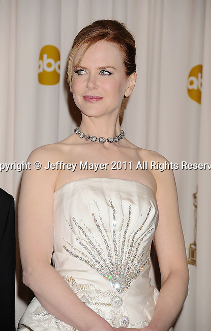 HOLLYWOOD, CA - FEBRUARY 27: Nicole Kidman poses in the press room during the 83rd Annual Academy Awards held at the Kodak Theatre on February 27, 2011 in Hollywood, California.