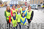 Bottom L-R Darragh O'Donovan, Fiona Mac Donald and Jessica O'Donovan, Top L-R Ann Enrite, Breda O'Sullivan, Kay Woods, Marek Roche, Maura Mac Donald (all from Kerry Hospice Fundation, Killorglin Branch) at the Good Friday Kerry Hospice Fundation 10k walk in Killorglin last friday morning.