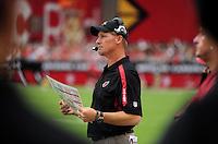 Sept. 13, 2009; Glendale, AZ, USA; Arizona Cardinals head coach Ken Whisenhunt against the San Francisco 49ers at University of Phoenix Stadium. San Francisco defeated Arizona 20-16. Mandatory Credit: Mark J. Rebilas-