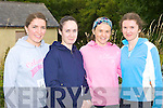 Tara Borst, Sinead Lawlor Tralee, Anna and Niamh O'Shea Killarney who competed in the 20th annual Kilgobnet 4mile race on Friday evening