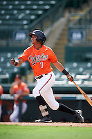 Baltimore Orioles shortstop Irving Ortega (1) during an Instructional League game against the Tampa Bay Rays on September 19, 2016 at Ed Smith Stadium in Sarasota, Florida.  (Mike Janes/Four Seam Images)