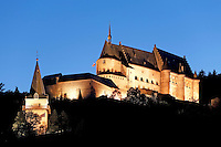 Grand Duchy of Luxembourg, Vianden: Vianden castle at night