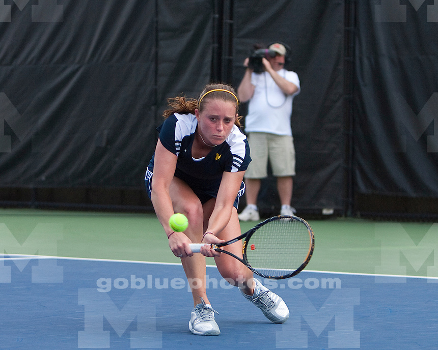 University of Michigan women's tennis 4-3 loss in Big Ten  Tournament finals at the Varsity Tennis Center in Ann Arbor, MI, on May 1, 2011.