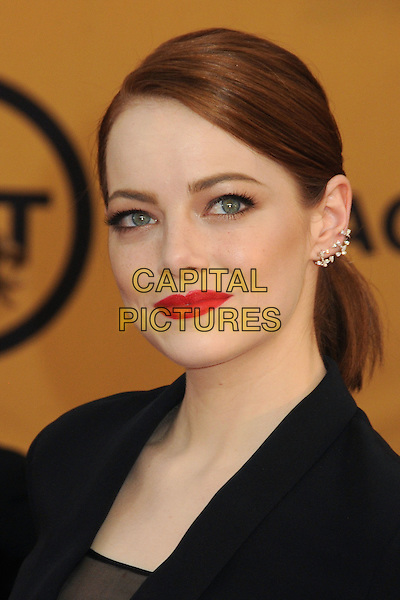 25 January 2015 - Los Angeles, California - Emma Stone. 21st Annual Screen Actors Guild Awards - Arrivals held at The Shrine Auditorium. <br /> CAP/ADM/BP<br /> &copy;BP/ADM/Capital Pictures