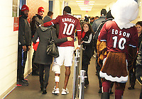 Macouma Kandji#10 is helped to the dressing roomat MLS Cup 2010 at BMO Stadium in Toronto, Ontario on November 21 2010. Colorado won 2-1 in overtime.