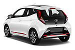 Car pictures of rear three quarter view of a 2019 Toyota Aygo x-style 5 Door Hatchback angular rear