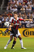 Antonio Cassano (99) of A. C. Milan. Real Madrid defeated A. C. Milan 5-1 during a 2012 Herbalife World Football Challenge match at Yankee Stadium in New York, NY, on August 8, 2012.
