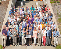 Group photo of the class of 1968.<br /> Occidental College hosts its annual Alumni Reunion Weekend, June 22-24, 2018 on campus. This year, alumni from the classes of 1968, 1973, 1978, 1983, 1988, 1993, 1998, 2003, 2008 and 2013 gathered to reconnect with friends and family in the Oxy community.<br /> (Photo by Marc Campos, Occidental College Photographer)