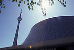 Toronto CN Tower reflection architecture buildings downtown Ontario Canada Roy Thompson Hall Arthur Erickson<br />