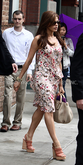 WWW.ACEPIXS.COM . . . . .  ....June 23 2011, New York City....Actress Eva Mendes leaving a dowtown hotel on June 23 2011 in New York City....Please byline: CURTIS MEANS - ACE PICTURES.... *** ***..Ace Pictures, Inc:  ..Philip Vaughan (212) 243-8787 or (646) 679 0430..e-mail: info@acepixs.com..web: http://www.acepixs.com