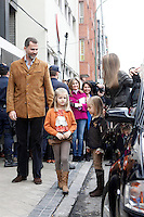 Princess Letizia of Spain, Prince Felipe of Spain and their daughters Princess Leonor of Spain and Princess Sofia of Spain visit King Juan Carlos of Spain at Quiron Hospital in Madrid. November 25 , 2012. (ALTERPHOTOS/Caro Marin) /NortePhoto