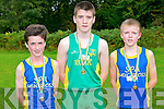 Winners of the under 14 years boys at Novice Cross Country Championships last Sunday 6th October 2013, Demense, Killarney, l-r: 2nd place Micheál Devlin 1st place Sean Horan, 3rd place Tristan O'Donoghue.