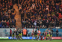 Picture by Anna Gowthorpe/SWpix.com - 02/02/2018 - Rugby League - Betfred Super League - Hull KR v Wakefield Trinity - KC Lightstream Stadium, Hull, England - Wakefield Trinity celebrate a try in front of their fans