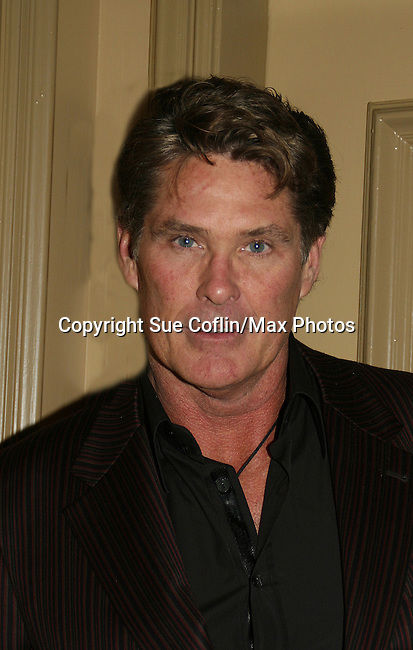 David Hasselhoff (Y&R's Snapper) joins Young and Restless - 2010 (Photo by Sue Coflin/Max Photos)