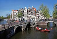 Kruising Keizersgracht en Leidsegracht in Amsterdam