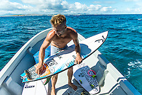 Namotu Island Resort, Nadi, Fiji (Sunday, June 12 2016): Josh Kerr (AUS) - The Fiji Pro, stop No. 5 of 11 on the 2016 WSL Championship Tour, was called off again today due to the lack of contestable swell at Cloudbreak. The contest is still facing a number of lay days due to the small surf conditions.  There was a slight increase in the swell this morning and the winds had moved back to light Trades. Photo: joliphotos.com